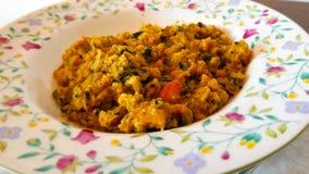 Ribollita Di Tafla lub Minestra jesteśmy sławnym Toskańskim chlebowym polewką carpaccio kuchni doskonale stylu życia, jedzenie lu obrazy stock