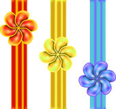 Ribon bow. Bullet Bright packaging ribbons of red and blue Royalty Free Stock Image