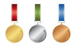 Ribon-Medaillen eingestellt Lizenzfreies Stockfoto