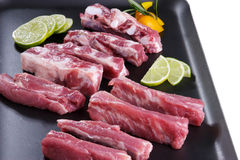 Ribs. Cuts of ribs in white backgroun Royalty Free Stock Images