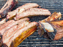 Ribs on the barbecue Royalty Free Stock Images