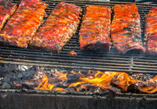Ribs on the barbecue. Best in the West Rib Cook-off, Sparks, Nevada Royalty Free Stock Image