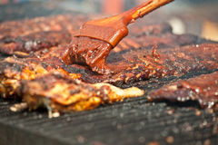Ribs on the barbeque. Royalty Free Stock Photography