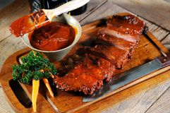 Ribs cooking Royalty Free Stock Photography