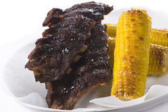 Ribs And Corn Stock Photos