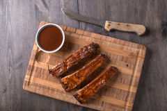 RIbs on a cutting board Stock Photos