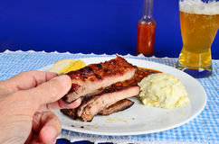 Ribs are Finger Food Royalty Free Stock Images