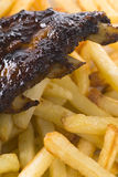 Ribs And Fries Stock Photos