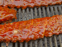 Ribs on the grill Stock Photography