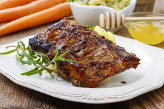 Ribs with honey Royalty Free Stock Photography