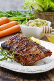 Ribs with honey Stock Image