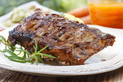 Ribs with honey Stock Photography