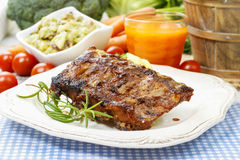 Ribs with honey Royalty Free Stock Image