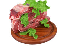 Ribs meat heap close up Royalty Free Stock Image