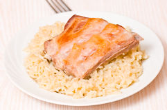 Ribs with rice Royalty Free Stock Photography