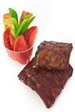 Ribs with a salad Stock Photo