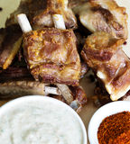 Ribs with sauce Stock Photography