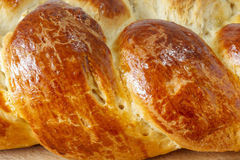Ribs of sweet braided bread Stock Photo