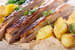 Ribs time Royalty Free Stock Image