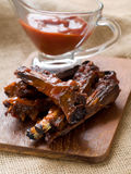 Ribs with tomato sauce Royalty Free Stock Image