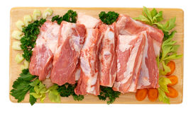 Ribs veal with vegetables Stock Images