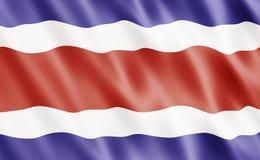 rica республики флага Косты Стоковое Изображение