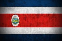 rica республики grunge флага Косты Стоковое Изображение