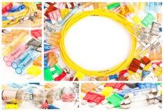 Ricambi auto elettrici messi Fotografia Stock Libera da Diritti