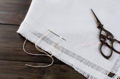 ricamo Accessori di cucito Materiali per gli artigianato immagini stock