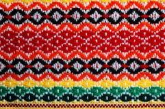 Ricamo bulgaro tradizionale Fotografia Stock