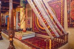 Ricamo centroasiatico tradizionale Immagini Stock
