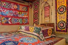 Ricamo centroasiatico tradizionale Fotografie Stock Libere da Diritti
