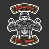 Ricamo classico del motociclista royalty illustrazione gratis