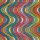 Ricamo o ripetizione colorata di struttura del modello del tessuto senza cuciture handmade Motivi etnici e tribali Stampa nello s royalty illustrazione gratis