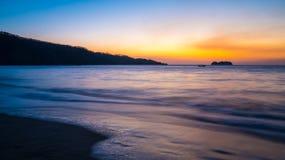 rican solnedgång för costa Royaltyfri Bild