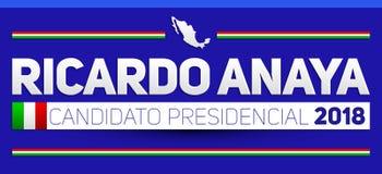 Ricardo Anaya Candidato presidencial 2018, kandyday na prezydenta 2018 hiszpański tekst, Meksykańscy wybory Fotografia Royalty Free