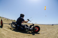 Ricardo Costa on a Kitebuggy Royalty Free Stock Photography