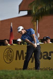 Ricardo Gouveia, Maybank Championship 2017. SUBANG, MALAYSIA - FEB 9: Ricardo Gouveia of Portugal teeing off during first round of Maybank Championship 2017 in Royalty Free Stock Photography