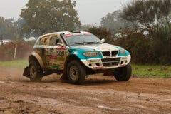 Ricardo Porem kör en Proto Bomcar S1 royaltyfria foton