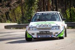 Ricardo Soares drives a Citroen AX Stock Photo