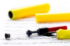 Ricarica della penna stilografica immagini stock