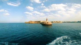 Ricasoli从海湾的灯塔视图 股票录像