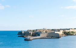 Ricasoli Grand Harbour East Breakwater Royalty Free Stock Photos