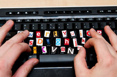 Ricatto del Internet Fotografie Stock