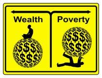 Ricchezza e povertà Fotografia Stock