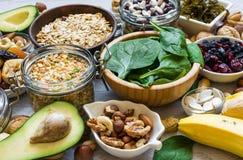 Ricchi dei prodotti di potassio e di magnesio Immagini Stock