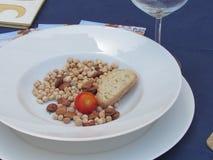 Ricchi siciliani poveri del piatto in fibra Fotografia Stock