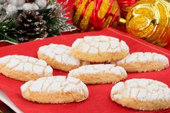 Ricciarelli biscuits Royalty Free Stock Image