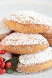 Ricciarelli sweet Christmas Royalty Free Stock Image