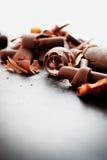 Riccioli del cioccolato Fotografia Stock Libera da Diritti